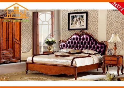 Best Indian Antique Wooden Leather Luxury Royal Oak Bedroom With Pictures