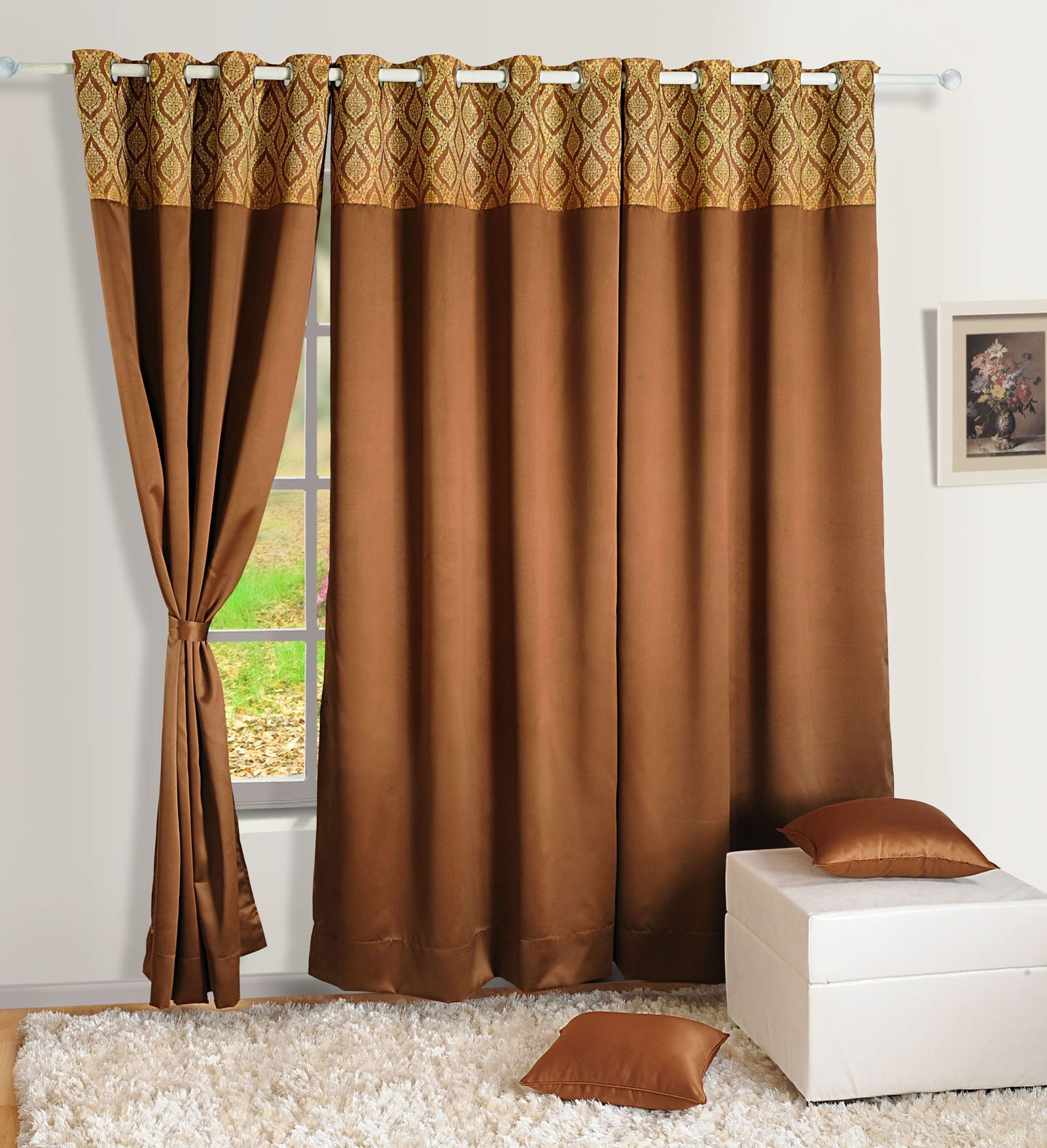 Best Home Decor Faux Silk Window Drape Panel Bedroom Blackout With Pictures