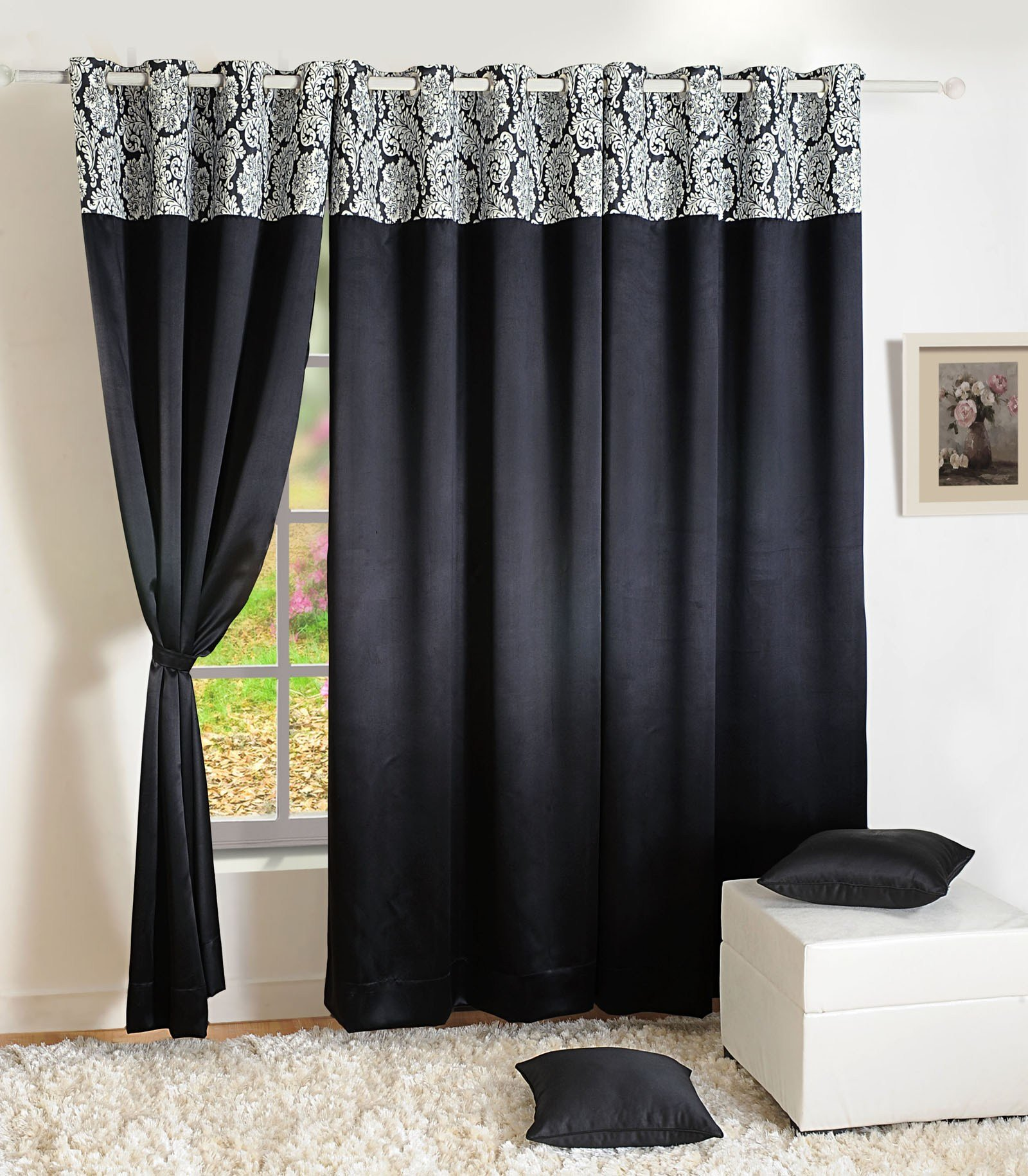 Best Home Decor Faux Silk Window Drape Panel Bedroom Blackout Eyelet Door Curtain 217 With Pictures