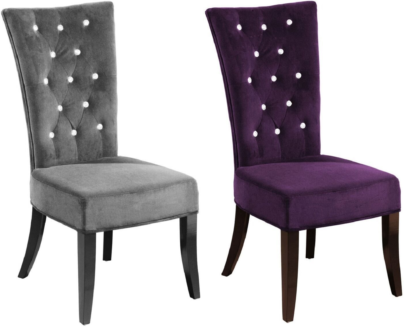 Best New 2 X Charcoal Velvet Grey Radiance Bedroom Dining Chair With Pictures