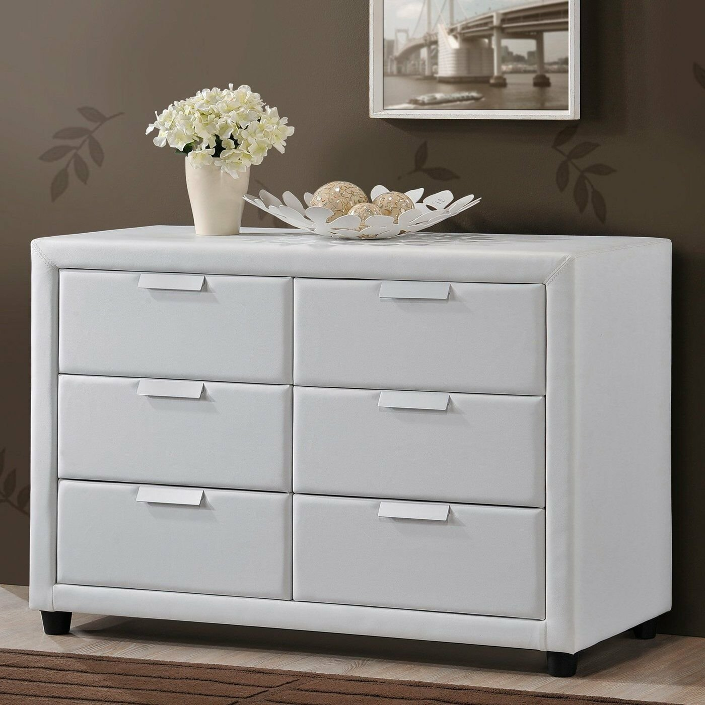 Best Bedroom Storage Dresser White Modern Chest Leather 6 With Pictures