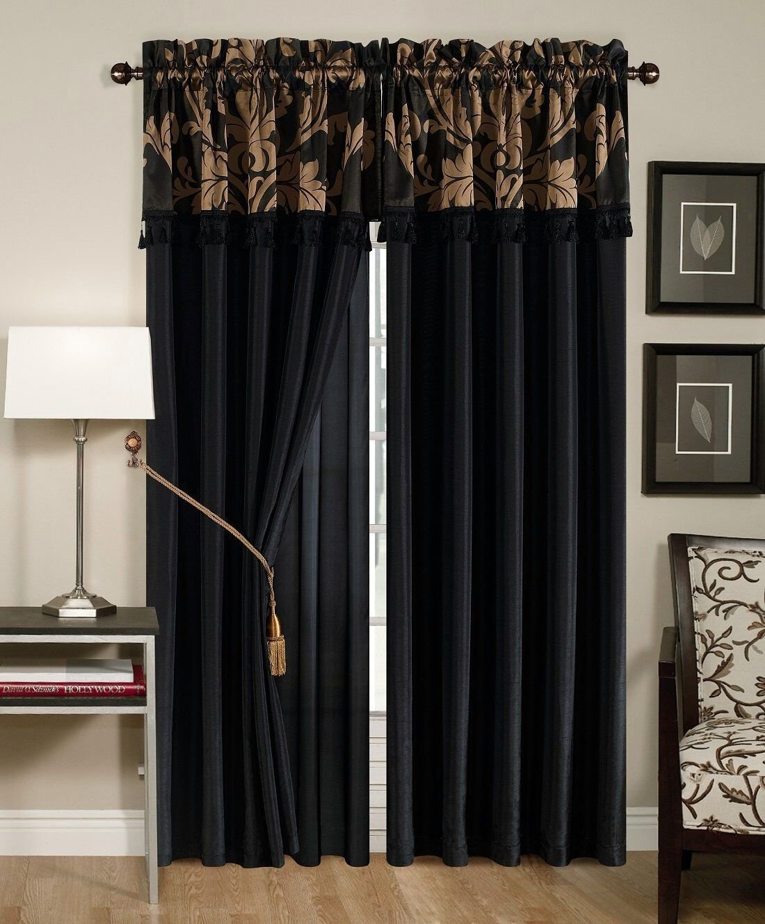 Best 4 Pc Floral Window Curtain Set Bedroom Drape Valance Panel With Pictures