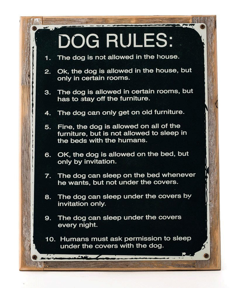 Best Dog Rules Metal Sign Framed On Rustic Wood Humorous Rustic Den Kennel Ebay With Pictures