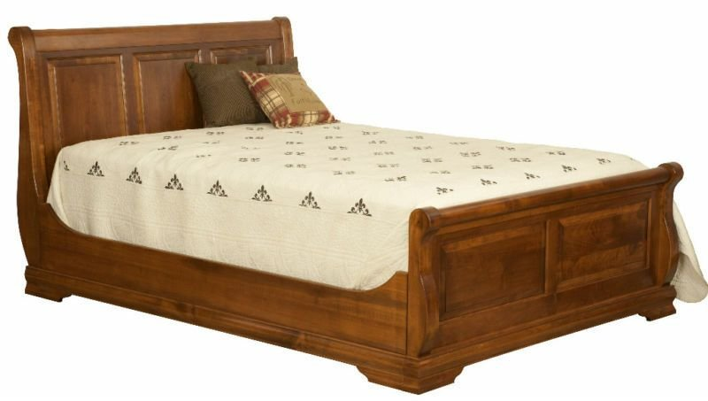 Best Amish Queen Luxury Bedroom Set Rustic Panel Sleigh Bed With Pictures