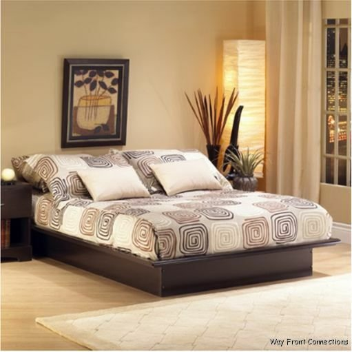 Best New Espresso Platform Queen Size Or Full Size Bed No Box With Pictures