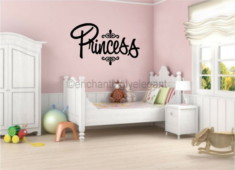 Best Princess Vinyl Decal Wall Sticker Words Lettering Nursery With Pictures
