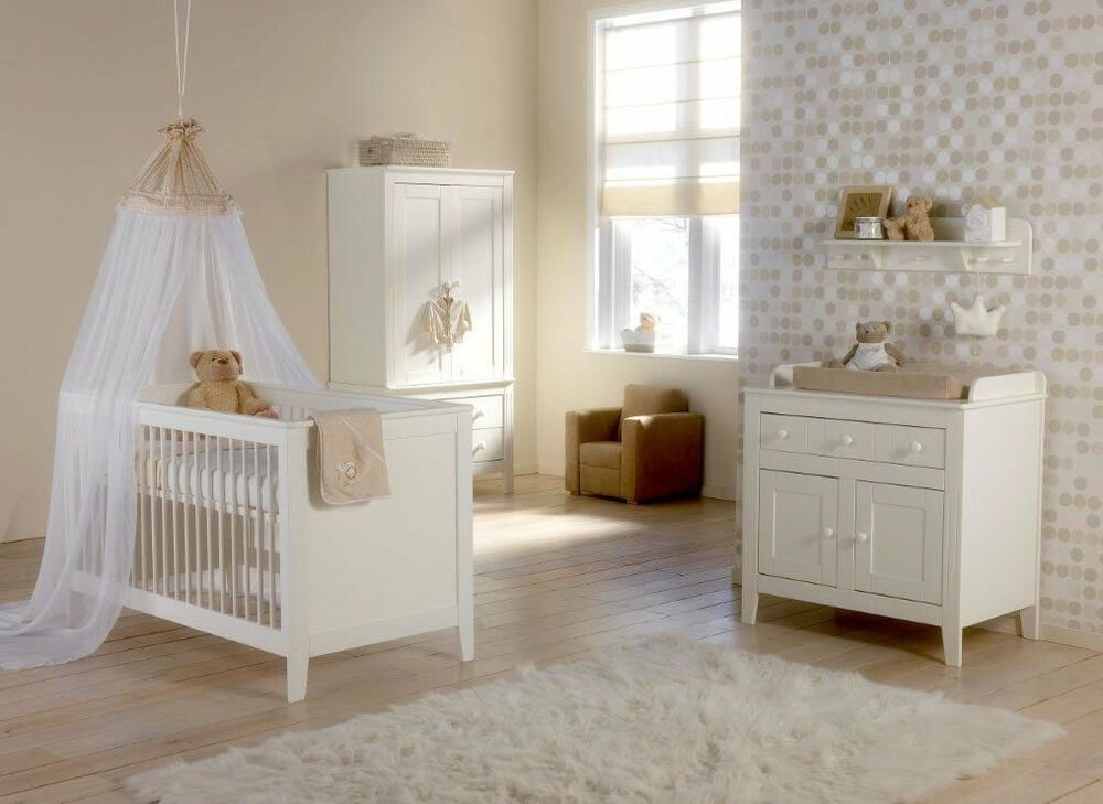 Best Brand New Europe Baby Montana By Kidsmill 3 Piece Nursery Furniture Set In White Ebay With Pictures
