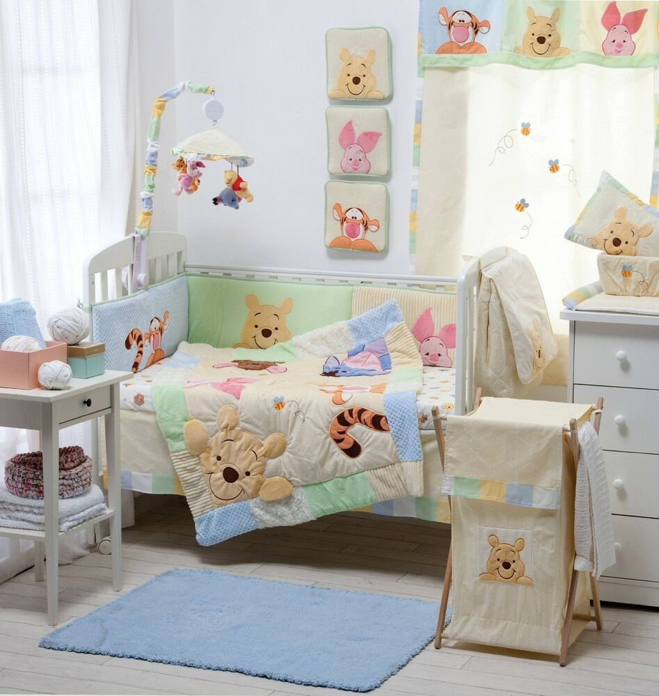 Best Hiding Pooh Crib Bedding Collection 4 Pc Crib Bedding Set With Pictures