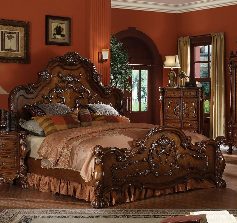 Best Dresden Formal Traditional Antique 1Pc Queen Bed Furniture With Pictures