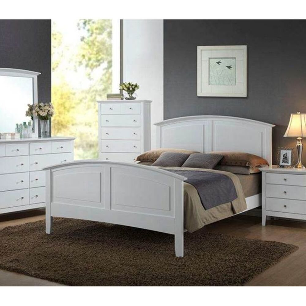 Best Contemporary Whiskey White Finish 1Pc Full Size Bed For Bedroom Furniture Set Ebay With Pictures