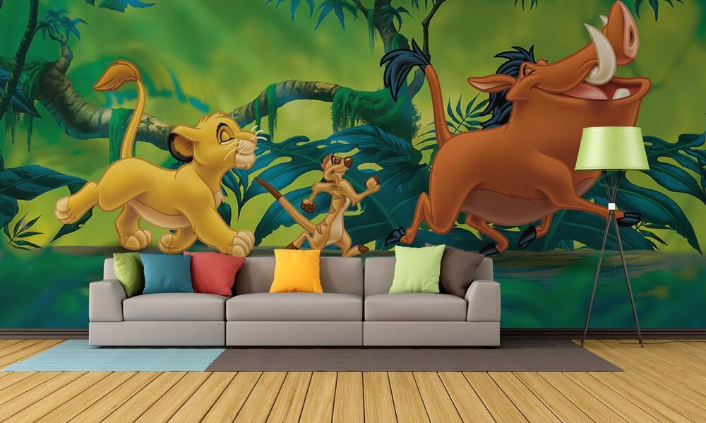 Best Giant Paper Wallpaper 368X254Cm Lion King Disney Wall With Pictures
