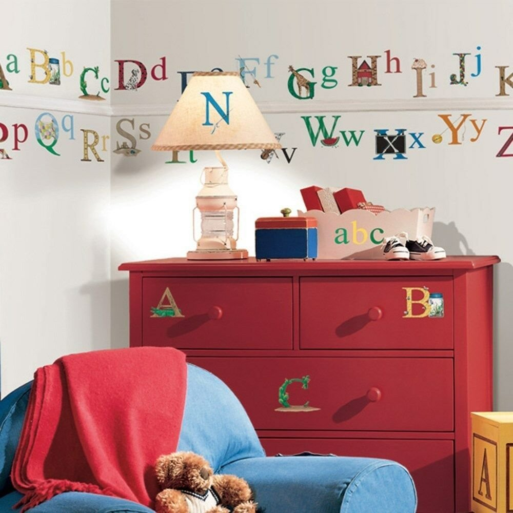 Best Set Of New Alphabet Wall Stickers Kids Bedroom Toy Room With Pictures Original 1024 x 768