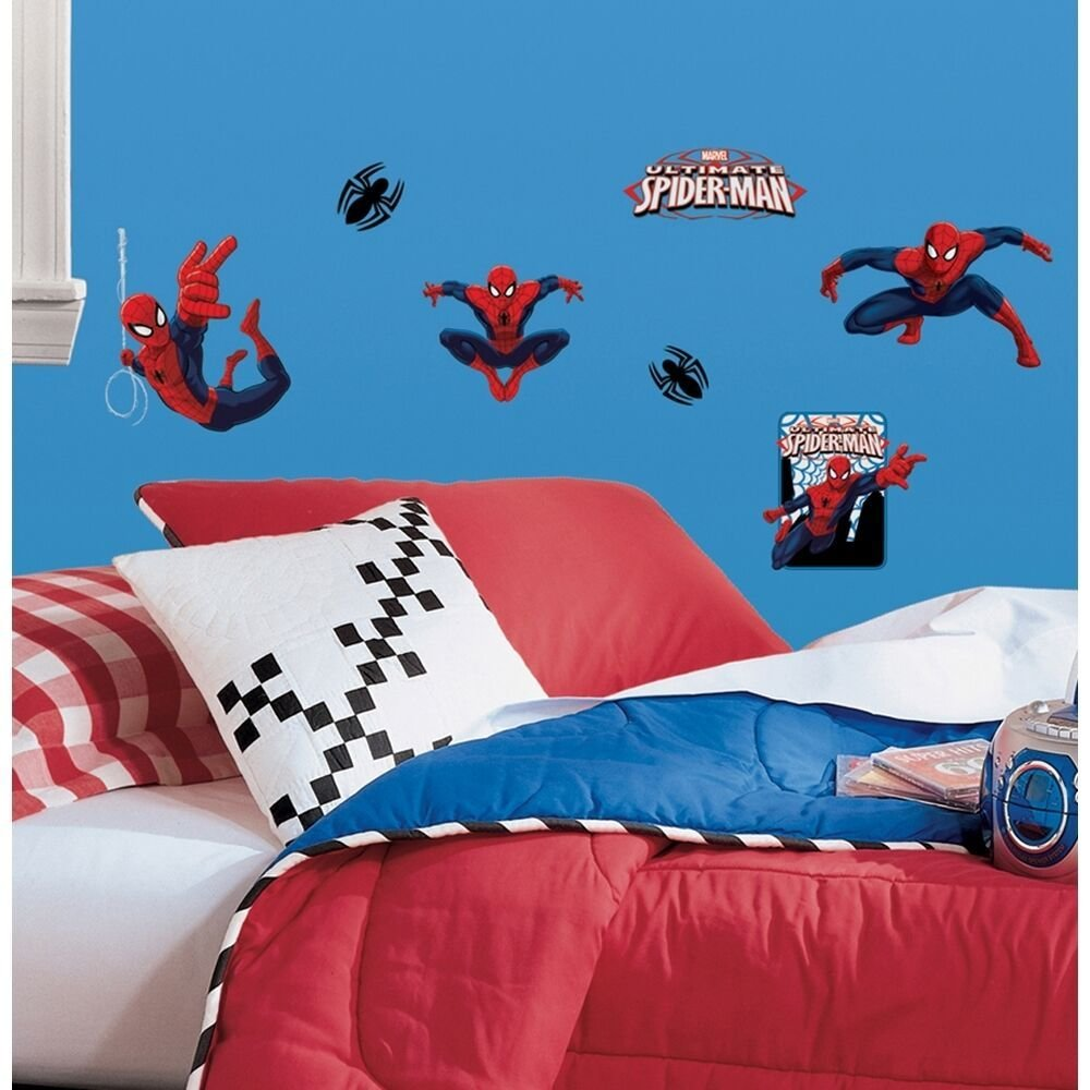 Best 22 New Ultimate Spiderman Wall Decals Spider Man Room With Pictures