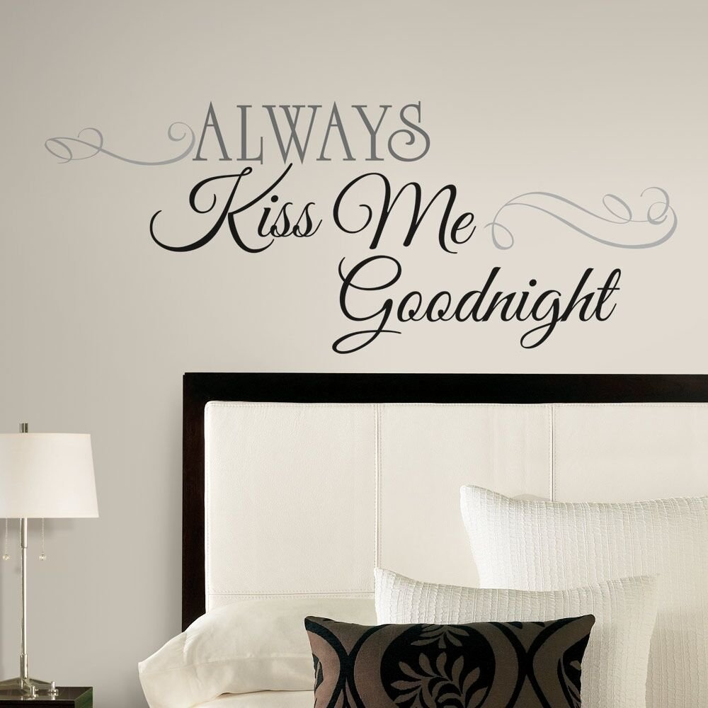 Best New Large Always Kiss Me Goodnight Wall Decals Bedroom Stickers Deco Home Decor Ebay With Pictures