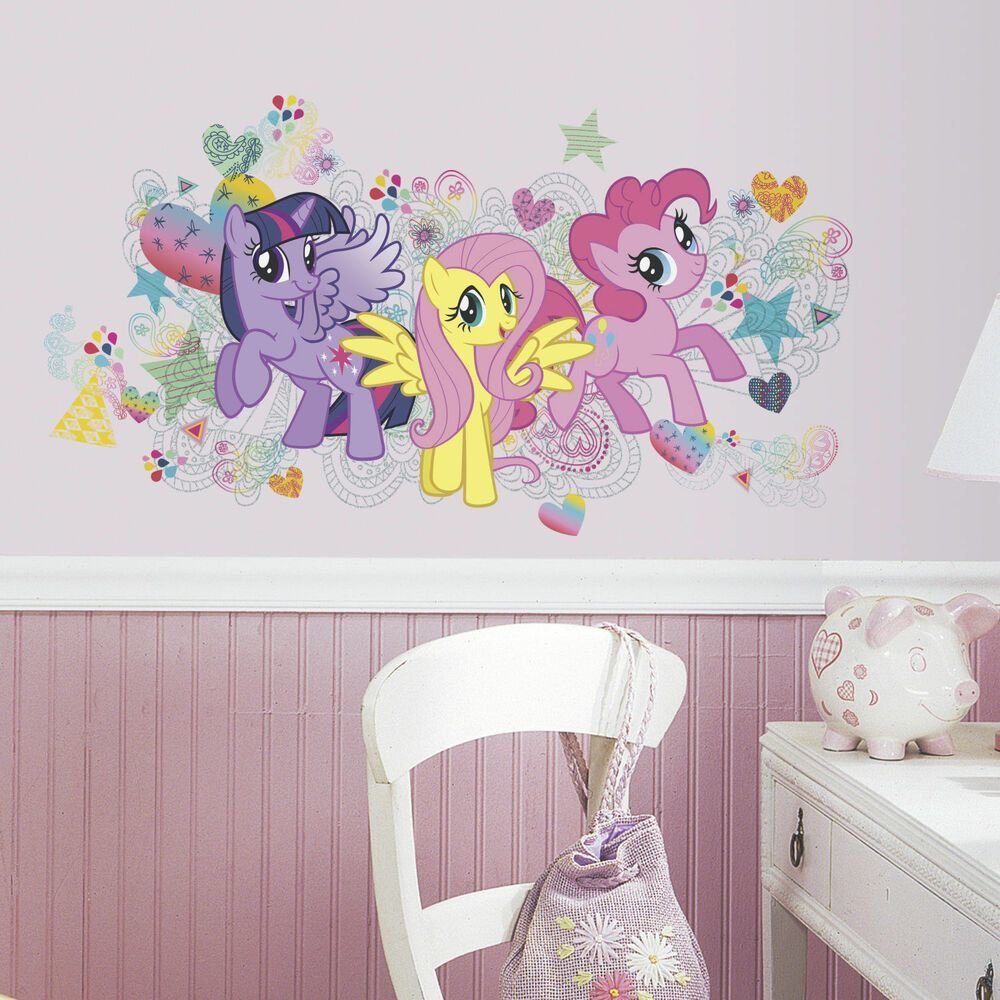Best My Little Pony Big Wall Mural Decals Pinkie Pie Fluttershy With Pictures