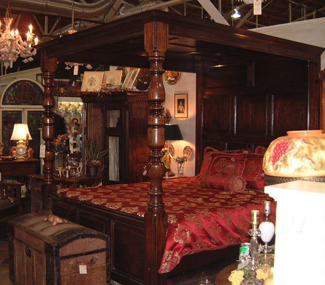 Best Antique Style Four Poster Canopy Bed Queen Size Ebay With Pictures