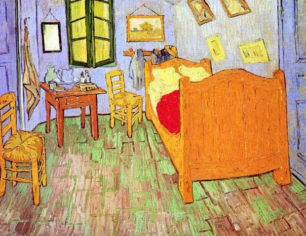 Best The Bedroom Arles Bed Chairs Impressionist Painting By With Pictures