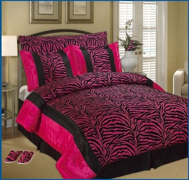 Best Octorose Tm Faux Silk Black Pink Zebra Printing With Pictures