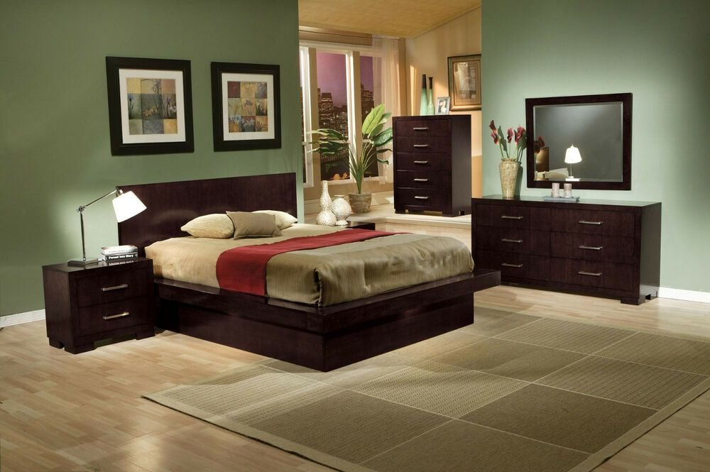 Best King Queen Size Beds Contemporary Style 4Pcs Bedroom With Pictures