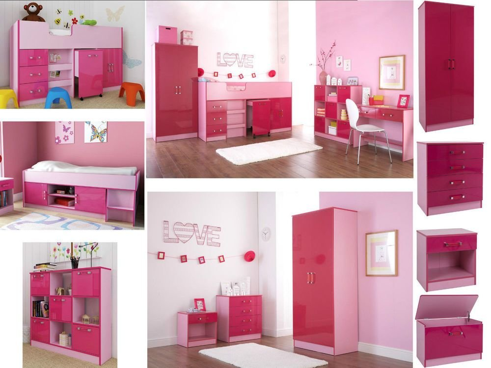 Best Ottawa Caspian Pink Gloss Girls Bedroom Furniture With Pictures