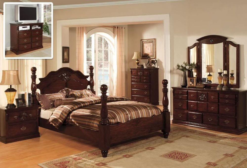 Best Classic Italian Style Queen King 4 Pc Set Bedroom Antique With Pictures