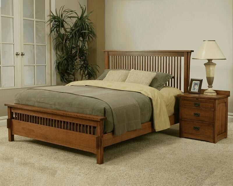 Best Usa Made Mission Style King Bed Mission Rift Quarter With Pictures