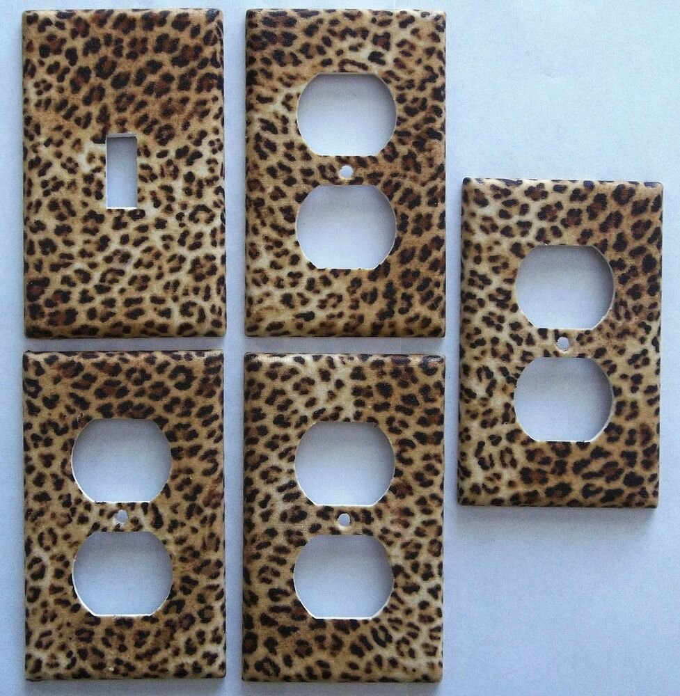 Best Leopard Animal Print Girls Light Switch Plate Bedroom With Pictures