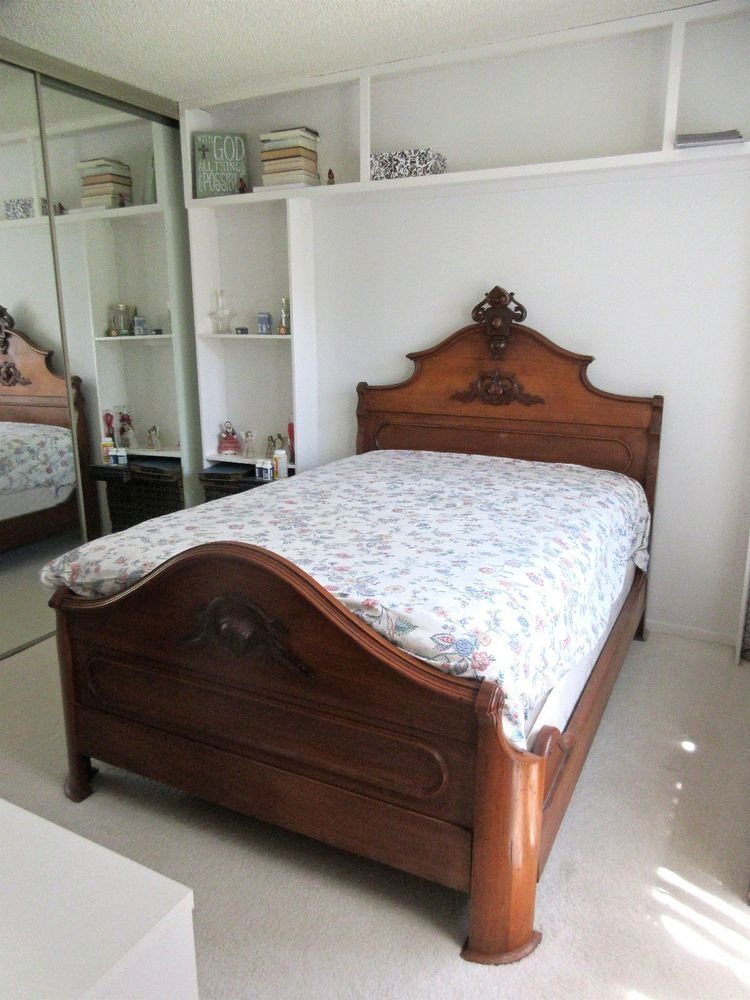 Best Victorian Antique Bed Dresser Bedroom Set Mahogany Finely With Pictures