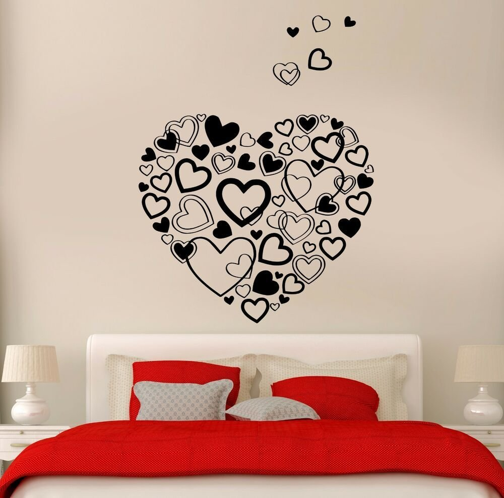 Best Wall Stickers Vinyl Hearts Romantic Decor I Love You For With Pictures