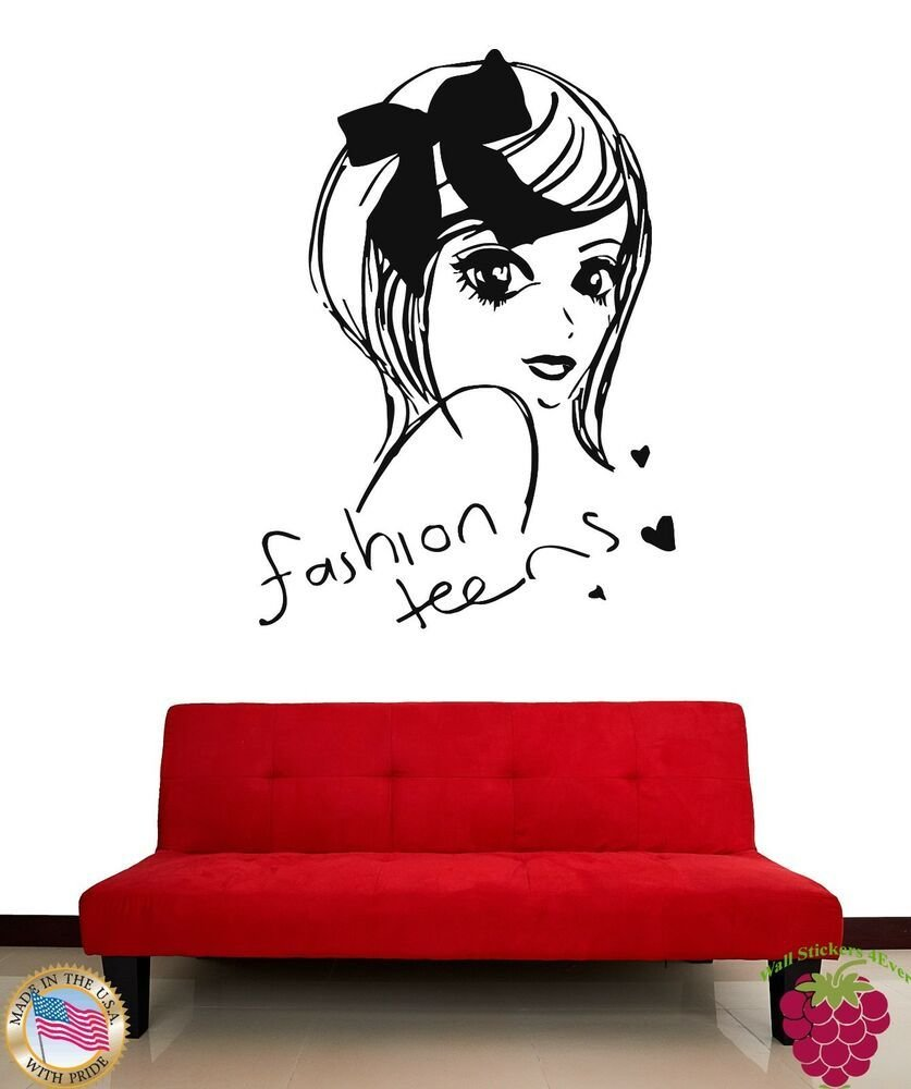 Best Wall Stickers Vinyl Decal Fashion Teens Cute Girl Decor With Pictures