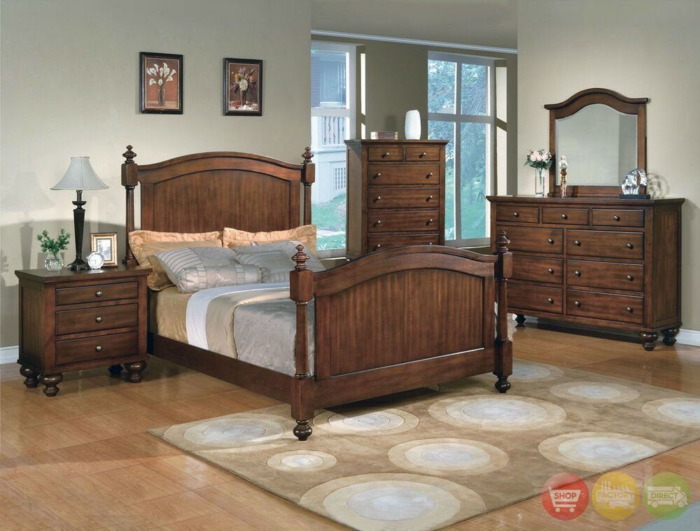 Best Sommer Traditional Queen Poster Bed 5 Piece Bedroom With Pictures