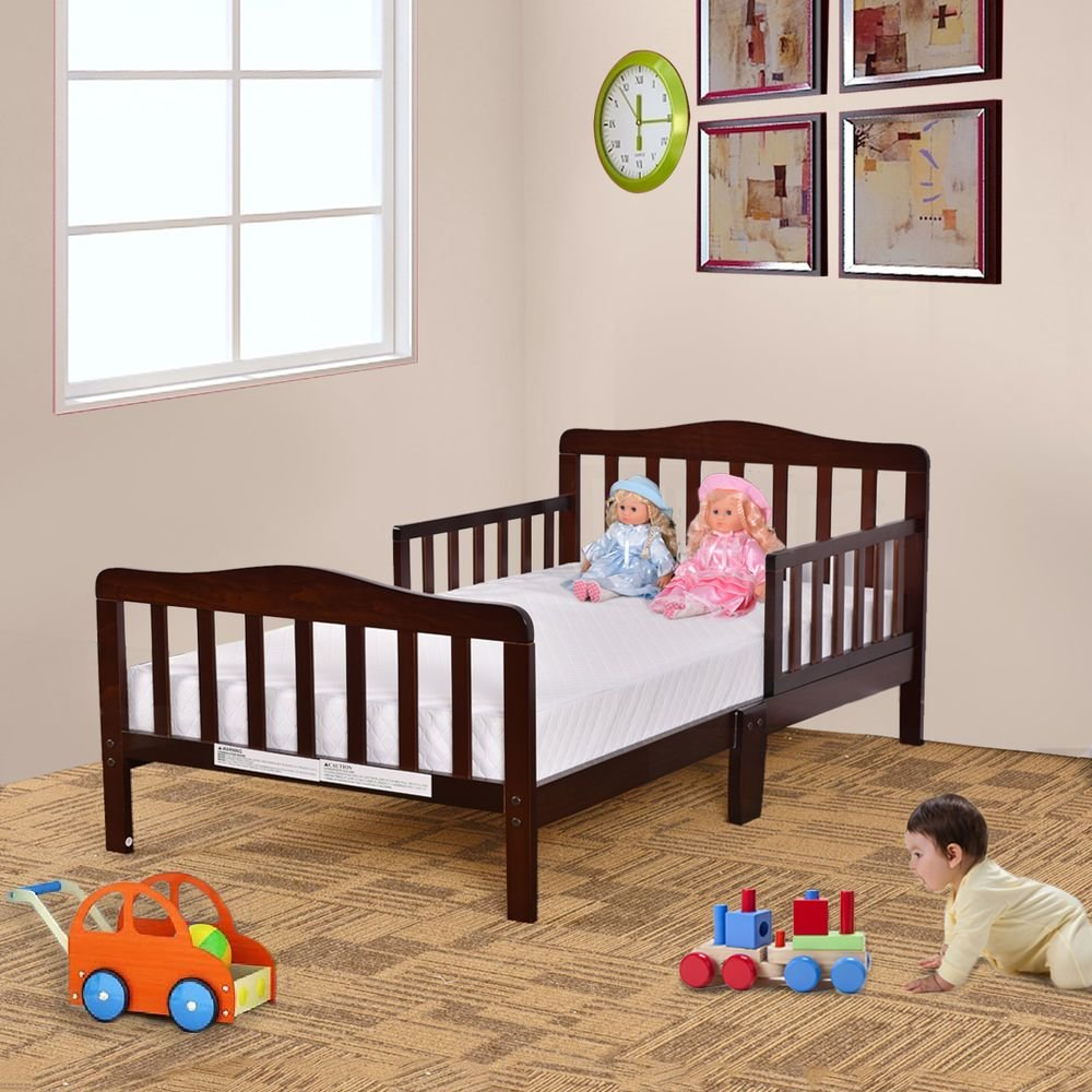 Best Baby Toddler Bed Kids Children Wood Bedroom Furniture W With Pictures