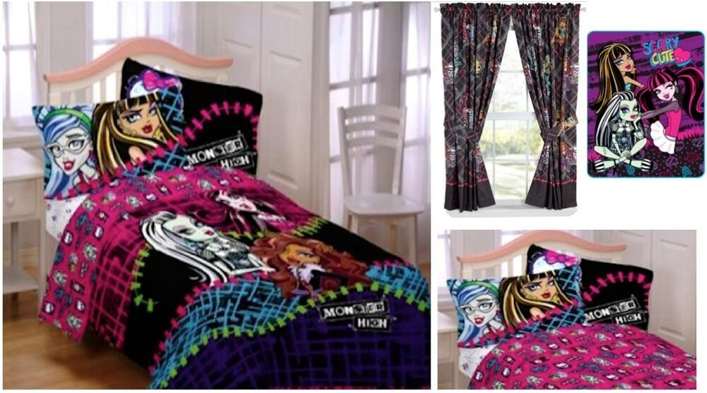 Best Kids Girls Monster High Bedding Bed In A Bag Comforter With Pictures