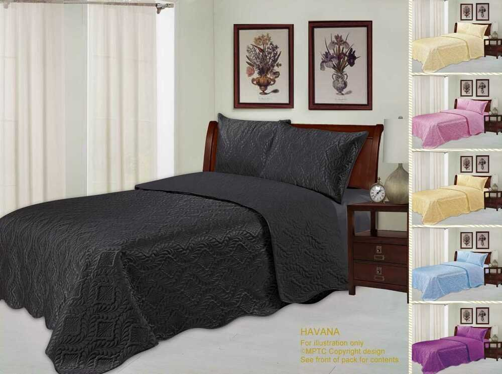 Best Quilted Embossed Satin Plush Bedspread Throw Over With Pictures