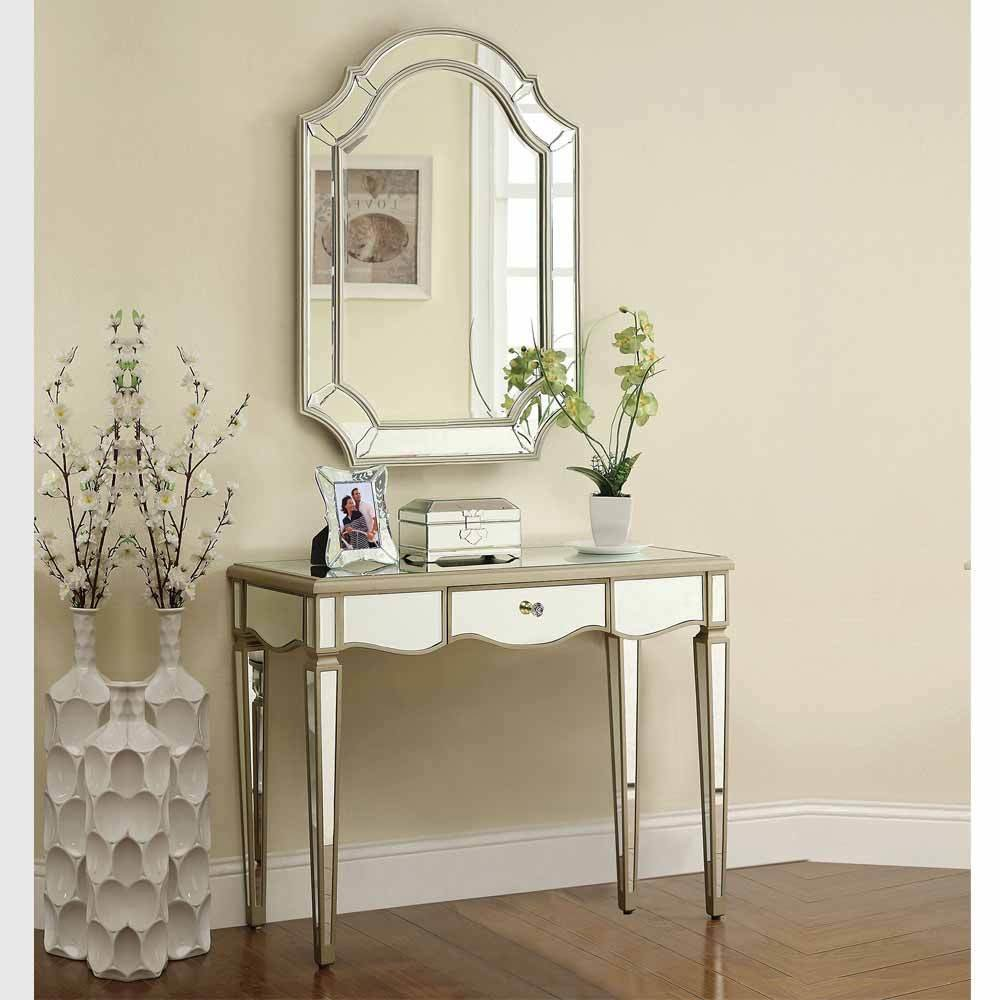 Best Selby Hallway Bedroom Antique Silver Console Vanity Set With Pictures
