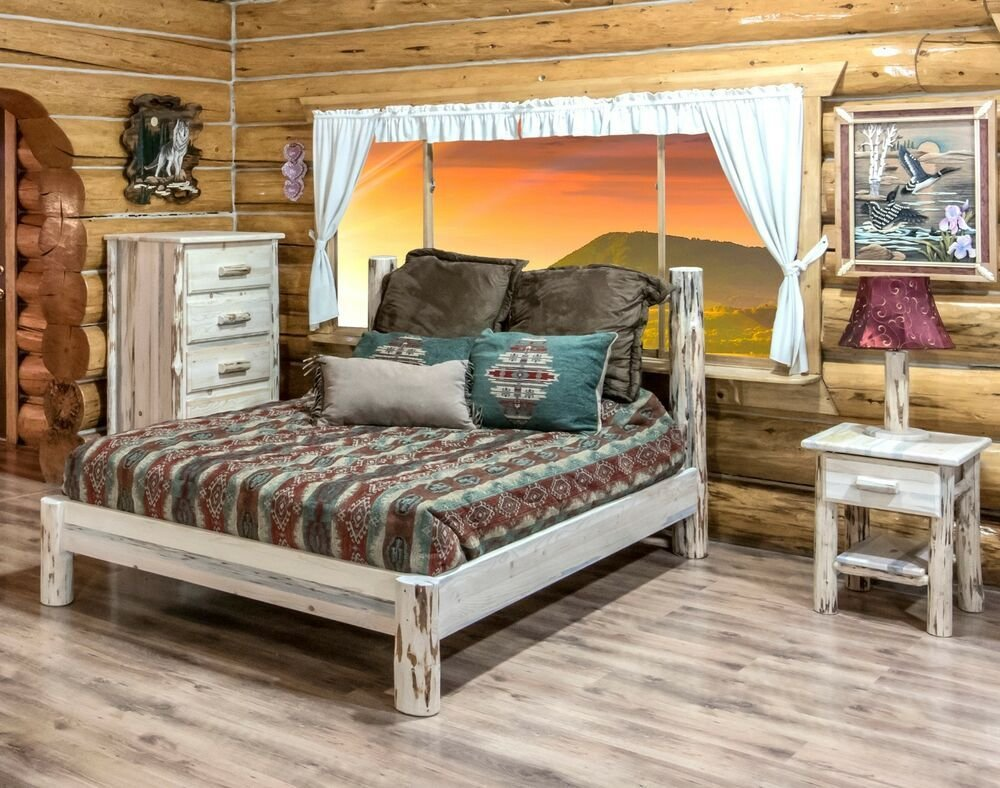 Best Amish Log Bedroom Set Rustic Log Cabin Bed Dresser And With Pictures