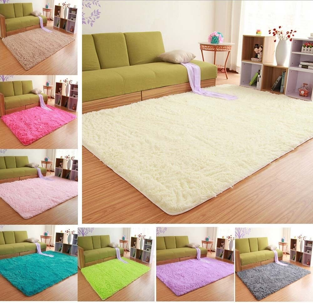 Best Solid Small Large Size Fluffy Anti Skid Shaggy Area Rug With Pictures