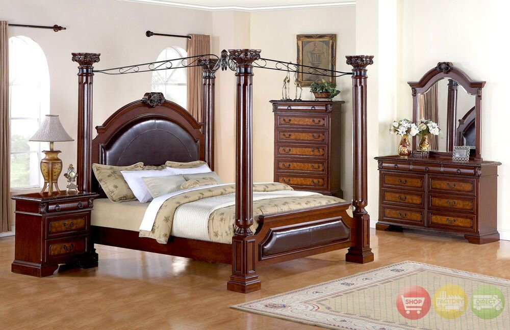 Best Neo Renaissance Luxury Queen Poster Canopy Bed Bedroom With Pictures