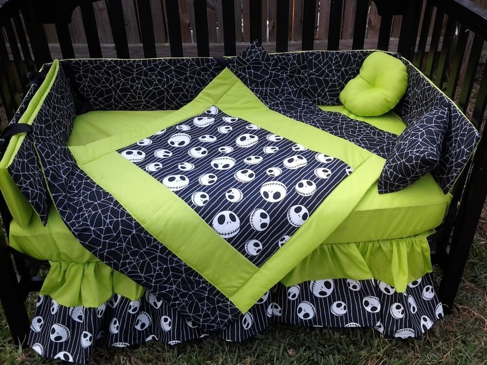 Best New Crib Bedding Set M W Jack Nightmare Before Christmas With Pictures
