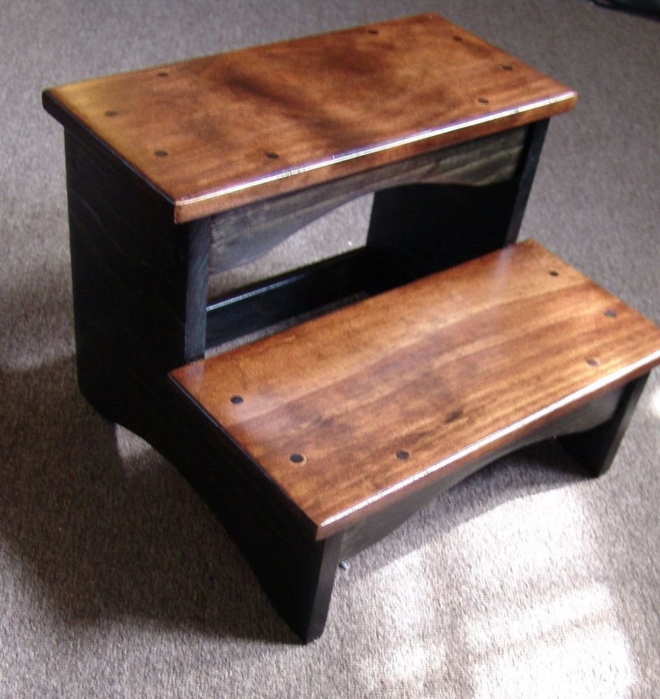 Best Handcrafted Heavy Duty Step Stool Wood Bedside Bedroom With Pictures