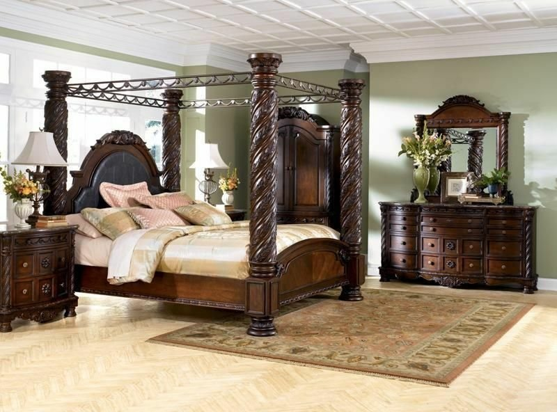 Best 6 Pc North Shore Poster King Bedroom Set Ashley Furniture With Pictures