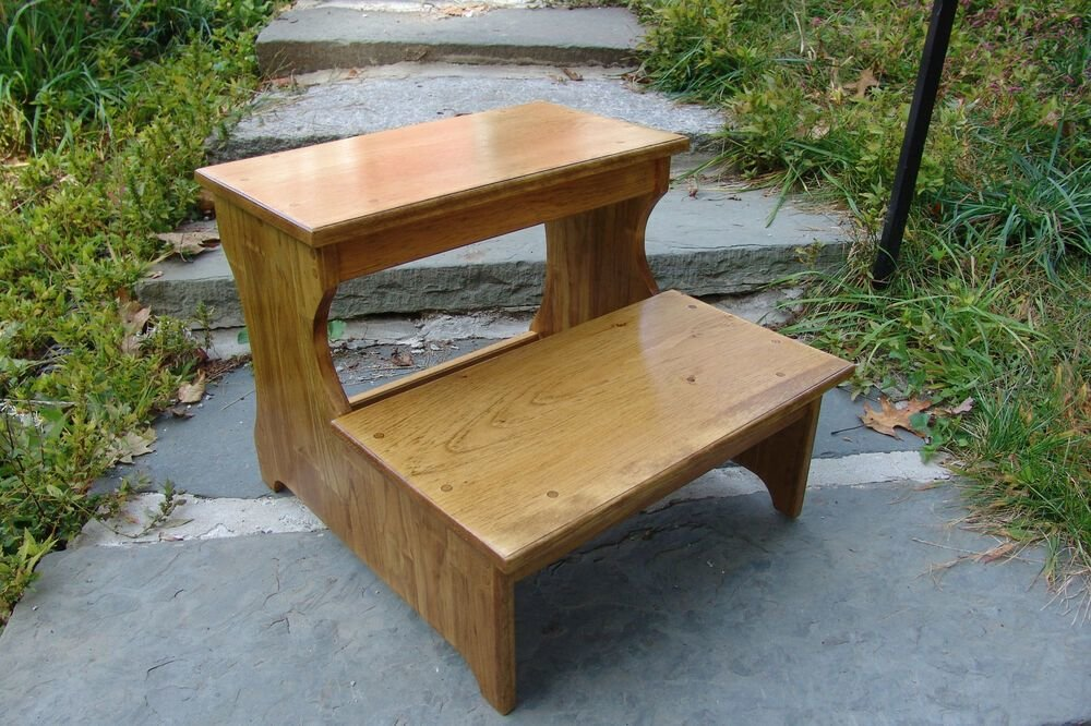 Best 16 5 Tall Handcrafted Safety Step Stool Solid Wood With Pictures
