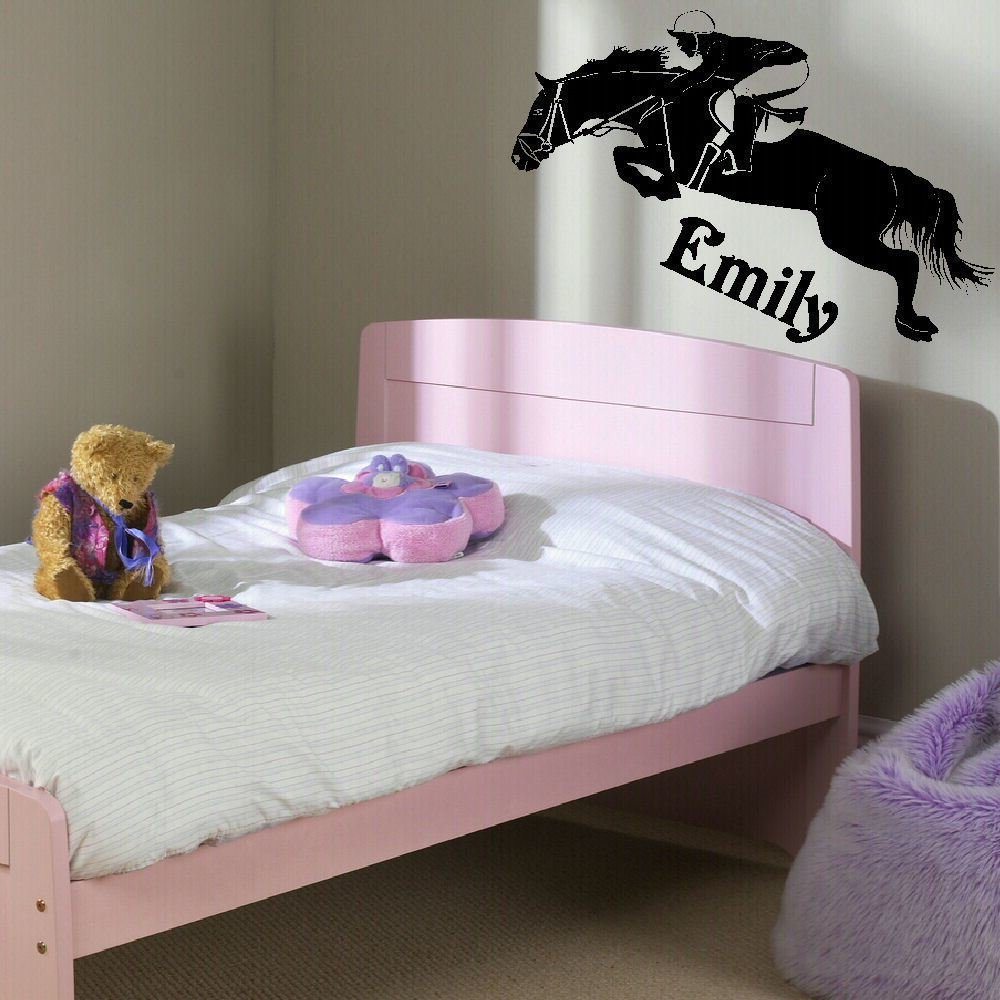 Best Large Personalised Horse Childrens Bedroom Wall Mural With Pictures
