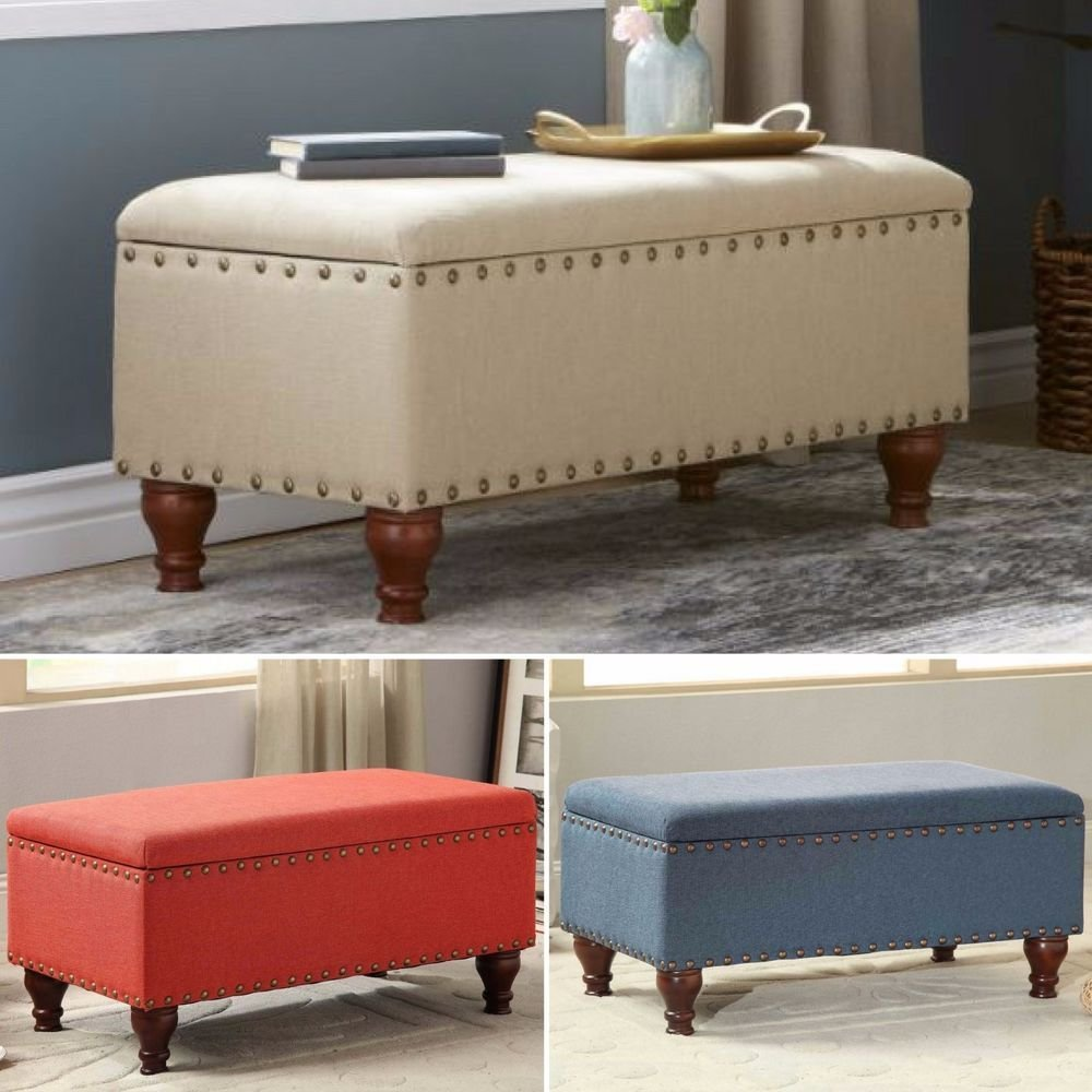 Best Storage Bench Ottoman Bedroom Upholstered Furniture Seat With Pictures