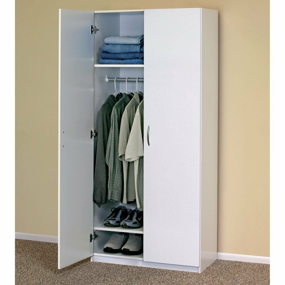 Best White Wardrobe Cabinet Clothing Closet Storage Modern With Pictures