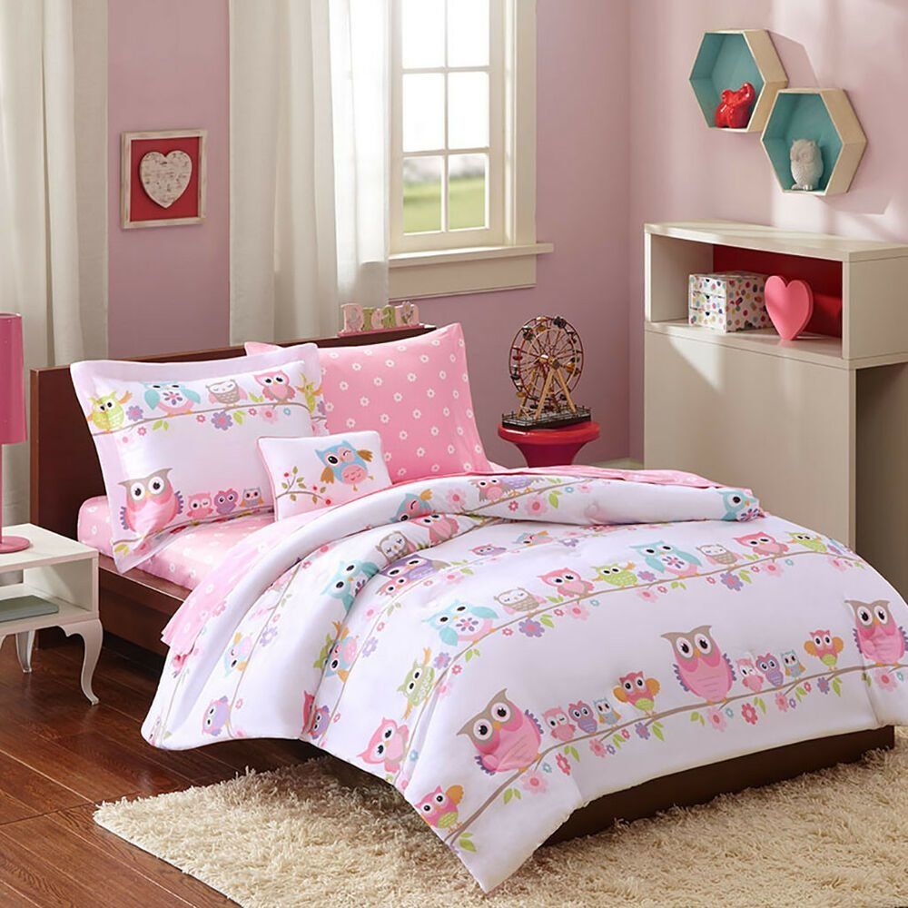 Best Modern Purple Pink Stripe Soft Girls Bed In Bag Comforter With Pictures