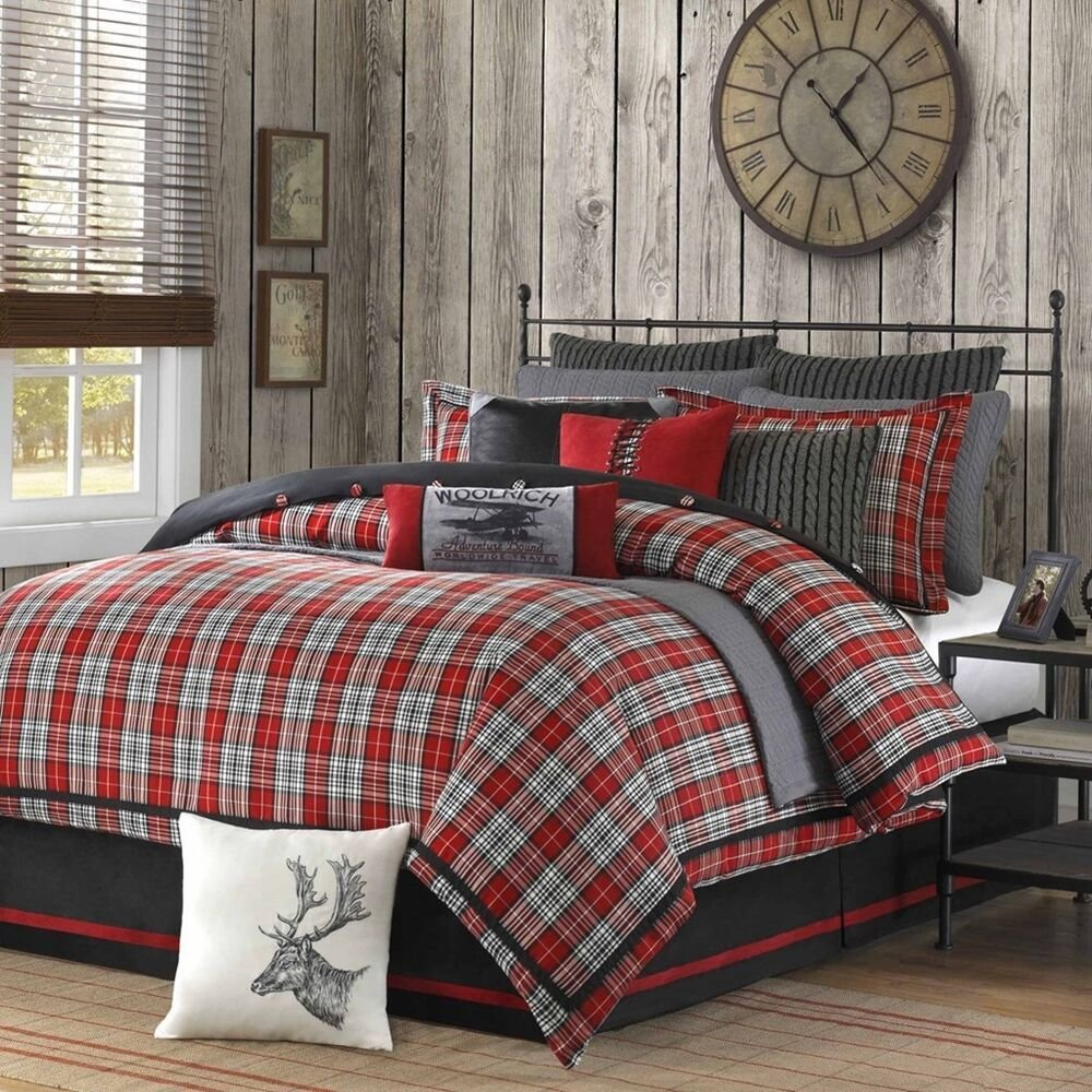 Best Woolrich Williamsport Plaid 4 Pc Comforter Bedding With Pictures