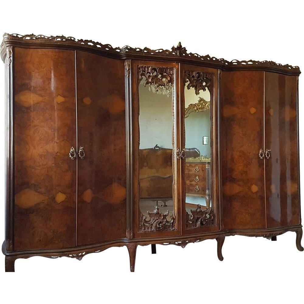 Best Beautiful Antique Bedroom Set Italian Baroque Chippendale With Pictures