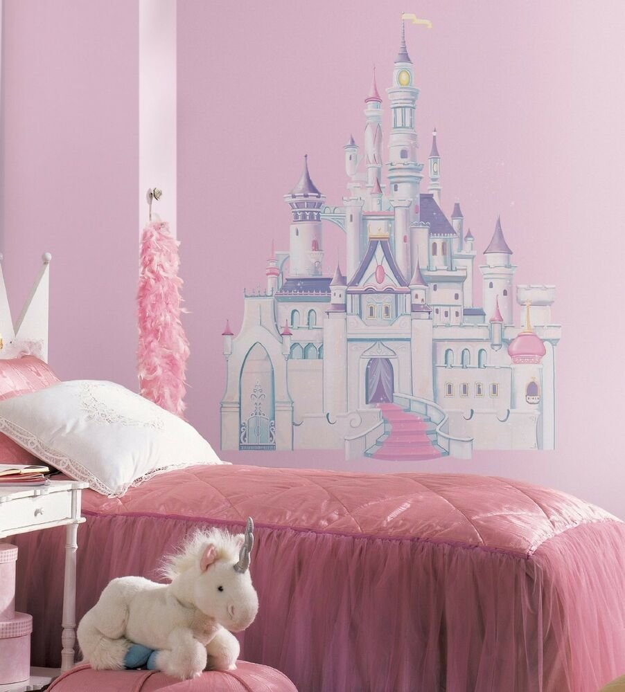 Best Disney Princess Castle Giant 42 Removable Vinyl Wall Decals Room Decor Stickers Ebay With Pictures