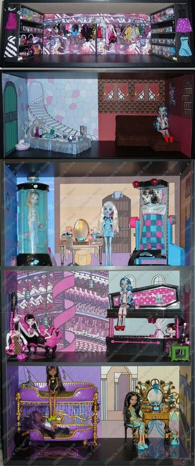 Best Monster High Dead Tired Bedroom Bookcase Kit W Abbey S With Pictures